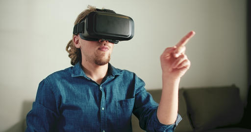 Wearing VR Headset Live Action