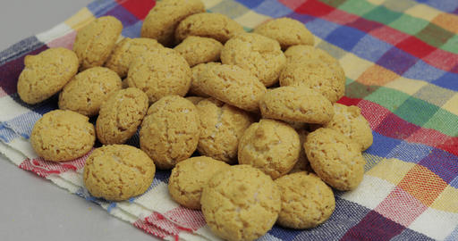 Pepernoten, a traditional treat with the Dutch holiday Sinterklaas. Cookie Footage