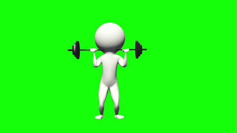 3DCG animation weightlifting sports Animation