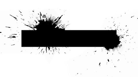 Logo Background - Ink rectangle with blots Animation