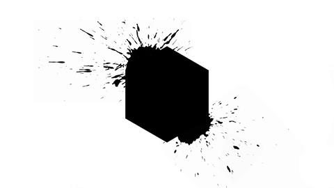 Logo Background - Ink Hexagon with blots Animation
