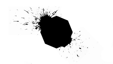 Logo Background - Ink Octagon with blots Animation