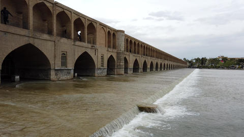 Isfahan, Iran - 2019-04-12 - Si-o-se-pol Bridge is Most Famous in Town 2 - Footage