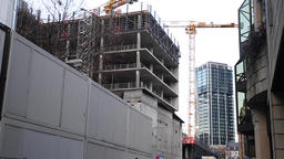 Building Construction in Downtown District Live Action