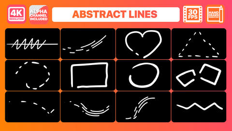 Abstract Lines Premiere Pro Template