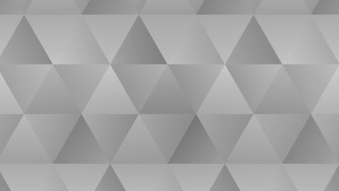 Triangle pattern of geometric shapes. Abstract polygonal loop animation. Monochrome gradient Animation