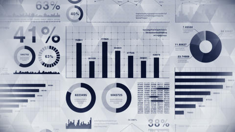 Business infographics with diagram loop animation. Charts and graphs. Business success and financial Animation
