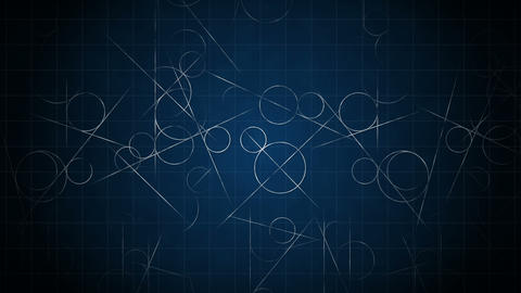 Loop transition animation with scientific geometric patterns in mathematics. Mathematics and Animation