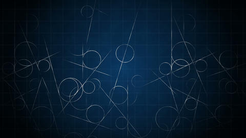 Loop transition animation with scientific geometric... Stock Video Footage
