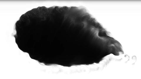 OneUp Ink Blots Are Falling And Spread Transition Footage
