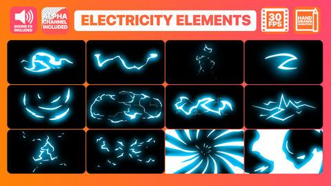 Electricity Elements Premiere Pro Template