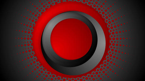 Dark red halftone circles video animation Animation