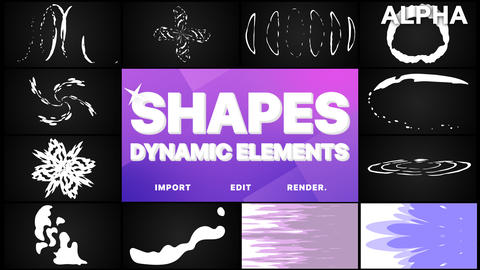 Dynamic Shapes Pack Premiere Pro Template