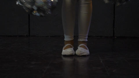 Close Up Leg Shot Of A Dancer Performing Shuffle Footwork In A Dance Studio GIF