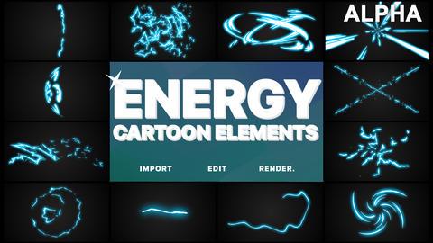 Cartoon Energy Elements Premiere Pro Template
