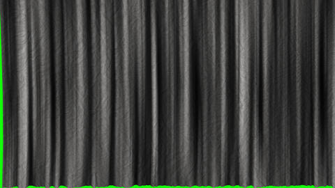 Five options for opening texture curtains with a green screen. Textured opening curtains with Animation