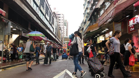 #009 Hong Kong Yuen Long Market #01 Live Action