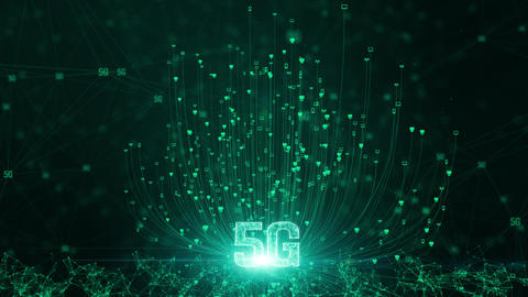 5G connectivity of digital data and conceptual futuristic... Stock Video Footage