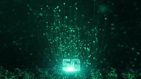 5G connectivity of digital data and conceptual futuristic information technology of internet of Animation
