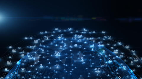 5G connectivity of digital data and conceptual futuristic… Stock Video Footage