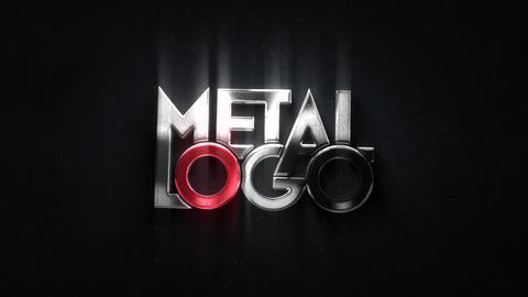 Glossy Metal Logo After Effects Template