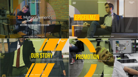 Corporate Slides Presentation After Effects Template