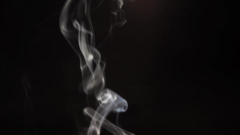 Abstract smoke isolated dark background Footage