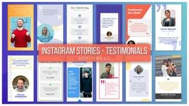 Instagram Stories - Testimonials Motion Graphics Template