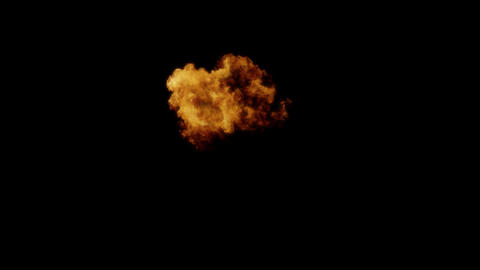 Fireball Explosion with Alpha Channel Animation