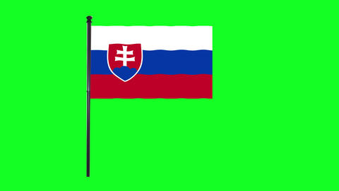 4K Serbia flag is waving in green screen Animation