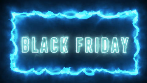 Neon style text animation of BLACK FRIDAY. Black Friday sale, shopping and promotion animation with Animation