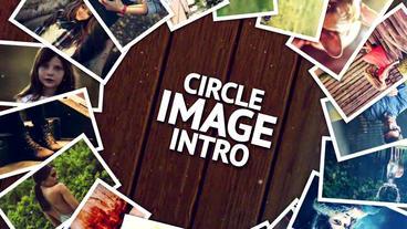 Circle Image Intro stock footage