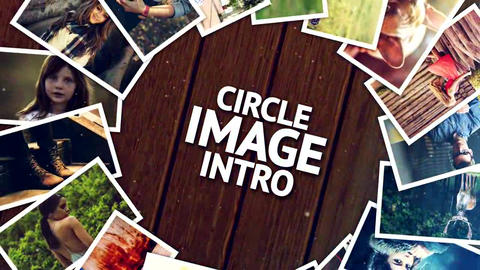 Circle Image Intro After Effects Template