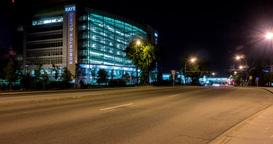 Motion Timelapse Of Kaye Clinic In Edmonton, Alberta Footage