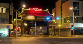 Hyperlapse of China Town entrance in Edmonton, Alberta Live Action