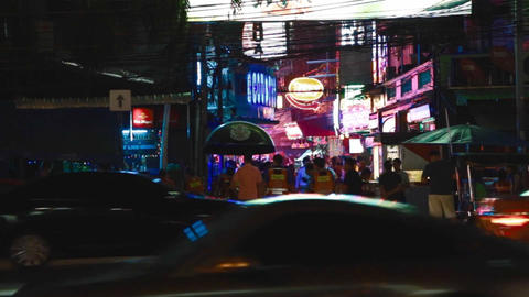 night street view of soi cowboy Live影片