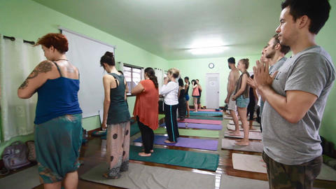 Surya Namaskar yoga Salutation Footage