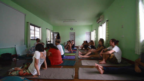 diverse yoga class in thailand Live Action