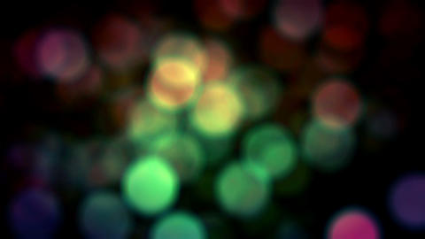 Colored Bokeh Loop Shiny Background Falling Animation