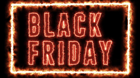 Fire style text animation of BLACK FRIDAY. Black Friday sale, shopping and promotion animation with Animation