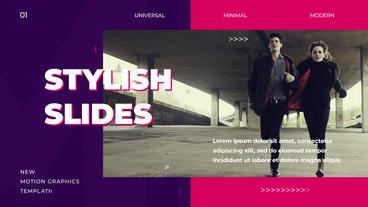 Stylish Slides Motion Graphics Template
