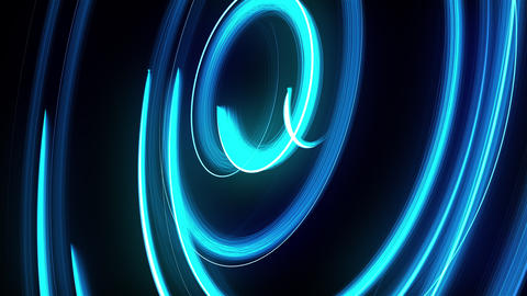 Abstract spiral rotating glow lines, computer generated background, 3D rendering Footage