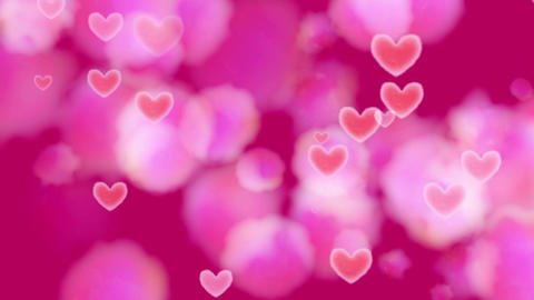 Dark Pink Heart Watercolor Background Animation