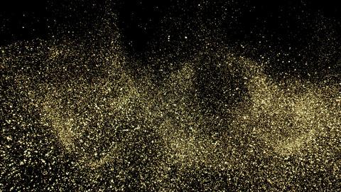Golden Glitter Dust background Photo