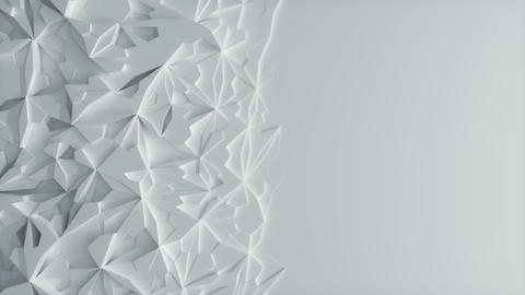 Low poly White Ice Block 3d Background with blank Space - Vertical Animation