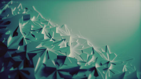 Low poly Blue Ice Block 3d Background with blank Space - Diagonal Animation