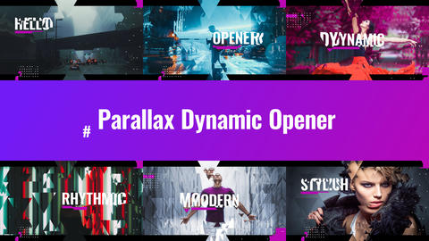Parallax Dynamic Opener After Effects Template