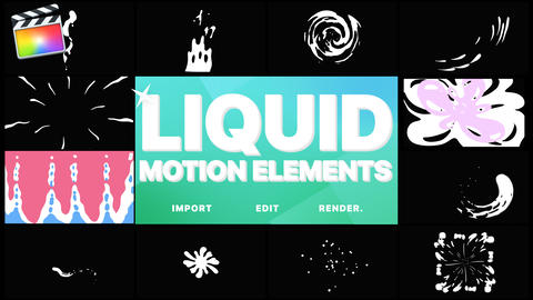 Liquid Motion Elements Apple Motion Template