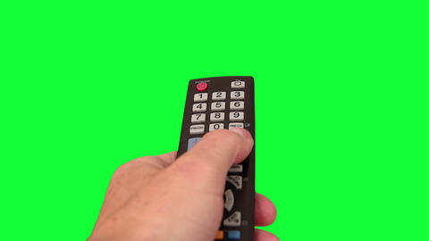 Surfing Television Channels on Green Screen Footage