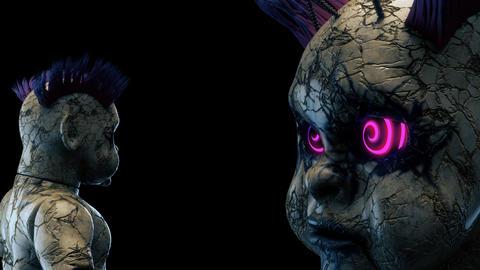 Abandoned Punk Doll VJ Loop Animation